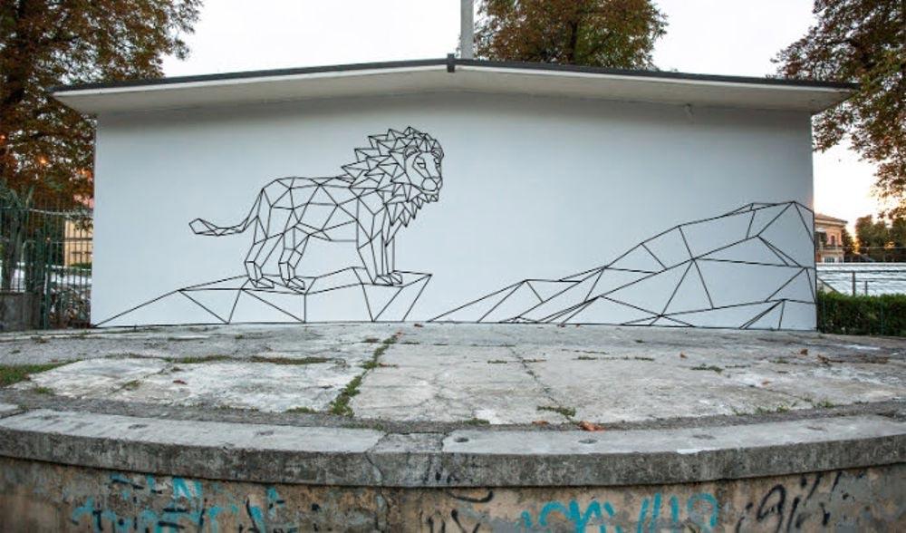 Murales dei leoni di Bologna
