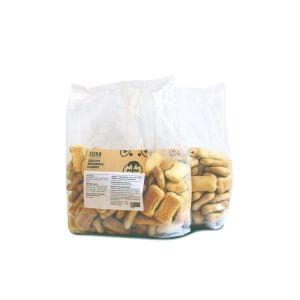 due confezioni di biscotti artigianali per cani al gusto classico